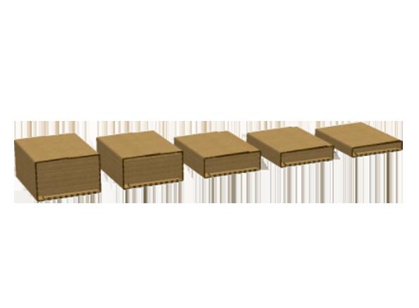 Multiple height packaging