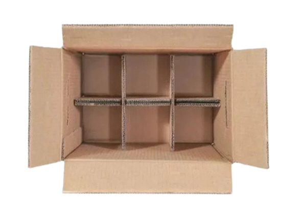 Cartons with attached partitions